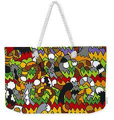 Catnip Weekender Tote Bag by Rojax Art