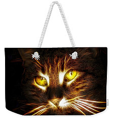 Cat's Eyes - Fractal Weekender Tote Bag by Lilia D
