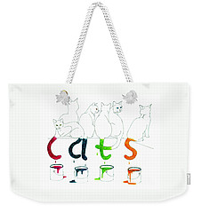 Cats With Paint Cans Weekender Tote Bag