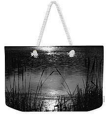 Cattails 3 Weekender Tote Bag by Susan  McMenamin
