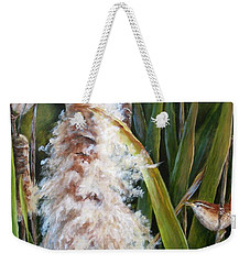 Cattails And Wrens Weekender Tote Bag