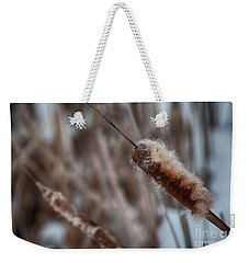 Weekender Tote Bag featuring the photograph Cattails by Bianca Nadeau