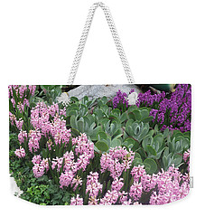 Weekender Tote Bag featuring the photograph Catterpillar Large Flower Garden Vegas by Navin Joshi