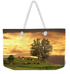Cattle On A Hill Weekender Tote Bag