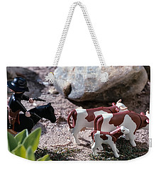 Cattle Rustler Weekender Tote Bag by Caitlyn  Grasso