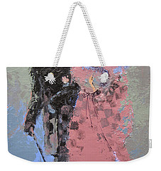 Weekender Tote Bag featuring the painting Catwalk by Marina Gnetetsky