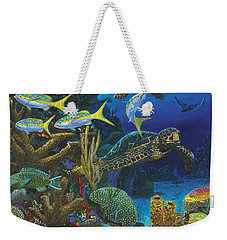 Cayman Turtles Re0010 Weekender Tote Bag by Carey Chen