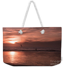 Cayucos Beach With Seagulls Weekender Tote Bag