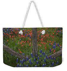 Cedar Fence In Llano Texas Weekender Tote Bag
