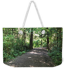 Weekender Tote Bag featuring the photograph Cedar Shadow Steps by Kim Prowse