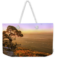 Cedar Tree Atop Mt. Magazine - Arkansas - Autumn Weekender Tote Bag by Jason Politte