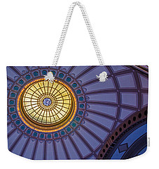 Weekender Tote Bag featuring the photograph Ceiling In The Chattanooga Choo Choo Train Depot by Susan  McMenamin