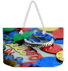 Celebrate Love Weekender Tote Bag by Margie Chapman