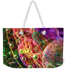 Weekender Tote Bag featuring the digital art Cell Dreaming 8 by Russell Kightley