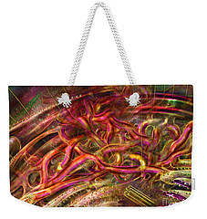 Weekender Tote Bag featuring the digital art Cell Dreaming 9 by Russell Kightley
