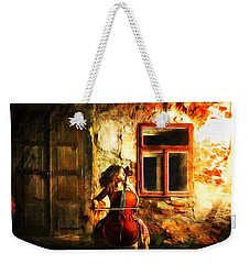 Cellist By Night Weekender Tote Bag