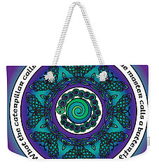 Celtic Butterfly Mandala Weekender Tote Bag