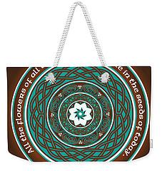 Celtic Lotus Mandala Weekender Tote Bag