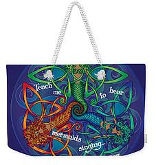 Celtic Mermaid Mandala Weekender Tote Bag