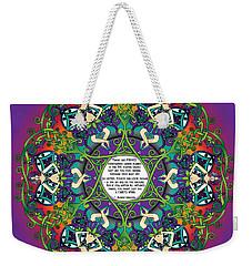 Celtic Spring Fairy Mandala Weekender Tote Bag