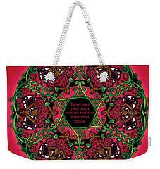 Celtic Summer Fairy Mandala Weekender Tote Bag