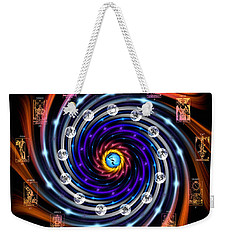 Celtic Tarot Moon Cycle Zodiac Weekender Tote Bag