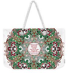 Celtic Winter Fairy Mandala Weekender Tote Bag