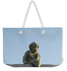 Weekender Tote Bag featuring the photograph Cemetery Cherub by Joseph Baril