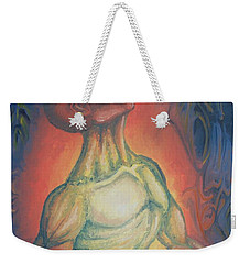 Weekender Tote Bag featuring the painting Center Flow by Michael  TMAD Finney