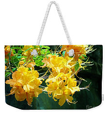 Centered Yellow Floral Weekender Tote Bag