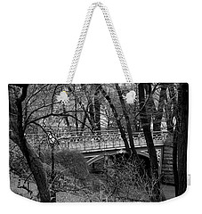 Central Park 2 Black And White Weekender Tote Bag
