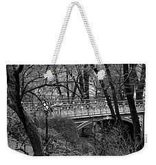Central Park 2.1 Black And White Weekender Tote Bag