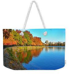 Central Park Autumn Landscape Weekender Tote Bag