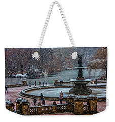 Central Park Snow Storm Weekender Tote Bag