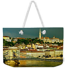 Weekender Tote Bag featuring the photograph Chain Bridge Budapest by Ira Shander