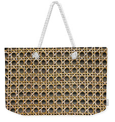 Weekender Tote Bag featuring the photograph Chair Caning  by Sherman Perry