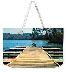 Chair On Dock By Jan Marvin Weekender Tote Bag
