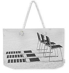Chairs In The Sun Weekender Tote Bag by Chevy Fleet