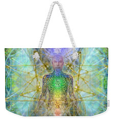 Chakra Tree Anatomy With Mercaba In Chalice Garden Weekender Tote Bag