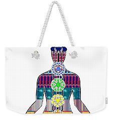 Chakra Yoga Mandala  Buy Faa Print Products Or Down Load For Self Printing Navin Joshi Rights Manage Weekender Tote Bag