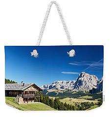Chalet In South Tyrol Weekender Tote Bag by Carsten Reisinger