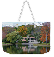 Chalet On The Lagoon Weekender Tote Bag by Susan  McMenamin