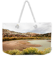Weekender Tote Bag featuring the photograph Chama River Swim Spot by Roselynne Broussard