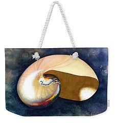 Chambered Nautilus Weekender Tote Bag by Barbara Jewell