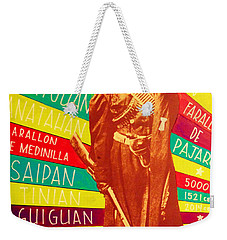 Weekender Tote Bag featuring the painting Chamorro Revolutionary by Michelle Dallocchio