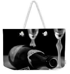 Champagne Bottle Still Life Weekender Tote Bag by Edward Fielding