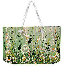 Weekender Tote Bag featuring the painting Champagne Symphony by Holly Carmichael