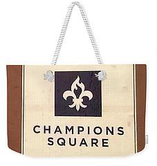 Champions Square Weekender Tote Bag