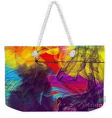 Weekender Tote Bag featuring the digital art Chaos by Clayton Bruster