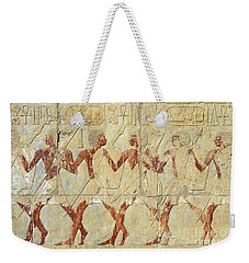 Chapel Of Hathor Hatshepsut Nubian Procession Soldiers - Digital Image -fine Art Print-ancient Egypt Weekender Tote Bag